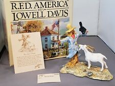 "NEW RARE Lowell Davis ""The Last Straw""  Scarecrow Billy Goat Crow in Field"