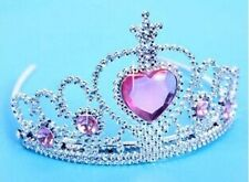 Frozen Anna Elsa Princess Crown Light Pink Costume Dress Girls Birthday Tiara