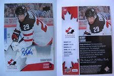 2014-15 UD Team Canada #44 Robby Fabbri 1/5 RC autograph rookie auto RARE blues