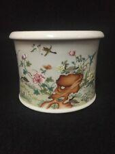 Antique Chinese Republic Period Porcelain  Brushpot Hongxian Mark