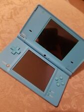 Turquoise Original Nintendo DSI with Charger Case and Games