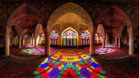 """MOSQUE OF COLOURS ISLAM RELIGIOUS RELIGION WALL ART CANVAS PICTURE PRINT 20X30"""""""