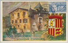 56892 - FRENCH ANDORRA - POSTAL HISTORY: MAXIMUM CARD 1956 - Architecture