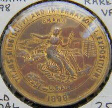 New ListingRare! 1898 Trans-Mississippi Expo Gilt Bronze, Stoughton Wagon Co. Gold Medal