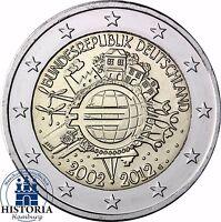 10 Jahre Bargeld 2 Euro Deutschland Gemeinschaftsausgabe 2012 Stempelglanz Mzz G