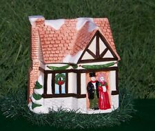 Vintage DICKENS COOKIE JAR SNOW CAPPED CHRISTMAS HOUSE VILLAGE Ceramic