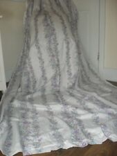 EXTRA LONG VINTAGE FLORAL CURTAINS HEAVY 82% VISCOSE FABRIC SHABBY CHIC COUNTRY