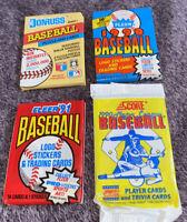 1990 - 1991 Fleer Donruss Score X4 Baseball Wax Pack Lot Error & Rare Rookies
