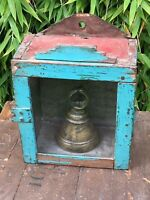 Antique Vintage Indian Kitchen Bathroom Display Cabinet Cupboard Turquoise