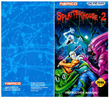 Color Custom Manual SPLATTERHOUSE 2 Mega Drive USA Version - AAA+++
