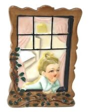 """Vintage Wall Hanging Mail Holder Ceramic c1950s Made in Japan 5""""H"""