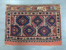 Old Antique Handmade Afshar Bagface 2x2.9 Ft