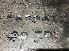 PASSAT 2.0 TDI BADGE LOGO EMBLEM