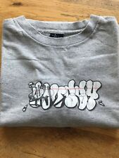 Vintage STUSSY Graffiti Long Sleeved T Shirt Size Large - Grey US Made.  1990's