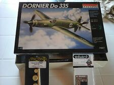DORNIER DO 335  1/48 SCALE MODEL MONOGRAM+WHEEL SET RESIN PARTS+PHOTOETCHED EDUA