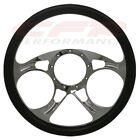 14 Chrome Billet Aluminum Steering Wheel W Half Wrap - 9 Hole