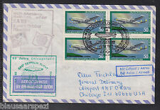 A 01) federal/Germany: geniales Air Mail 1983/SST 50 años chicago viaje/4 bloque