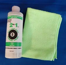 Gemini 2 in1 Pool Billiard Ball Cleaner/Polish & Micro Fiber Cloth - Large 16oz