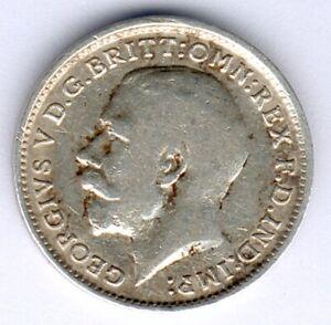 Großbritannien Georg V. (1865-1936) 3 Pence 1918 Silver KM#813, ss