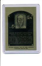 1981-89 HALL OF FAME METALLIC PLAQUE Oscar Charleston NR-MT Negro League Legend