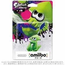 Nintendo Amiibo Inkling Squid Green IKA Splatoon Switch Wii Rare 3DS