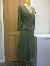 BODEN Green Soft Silky  Jersey Fit & Flare Dress -  size 14 UK