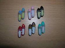 6 paia di scarpe/Pack of 6 shoes dollhouse bambole Tube 1:12 d279