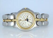 $5,000 Bertolucci 18K Yellow Gold Pulchra Two Tone Moonphase Calendar Watch 36mm