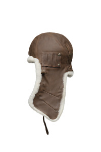 Canada Arctic Bay classique sheep leather Aviator hat Brown made Canada msrp245$