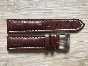 New Genuine Breitling 739P 22mm Brown Croco Alligator Leather Strap & Buckle