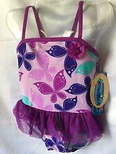Jump N Splash Purple Ballerina Style Girls One Piece Swimsuit 3T-New