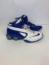 Nike Shox Elite Basketball Shoes Mens Sz 10 316685-142 White Blue Strap Zoom