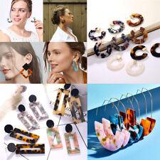 Drop Hook Ear Stud Earrings Jewelry Fashion Geometric Lady Leopard Circle Dangle