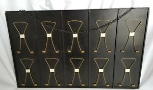Vintage 1960s Message Holder Metal Wall Mounted