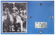 Benito Mussolini a cavallo cavaliere duce fascismo quadro cornice vetro