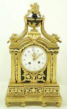 Eccezionale OROLOGIO CAMINO da bronzo placcati oro per 1860. firmato.
