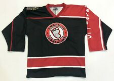 Vintage OT Sports Amarillo Gorillas Hockey Jersey Men Youth L/XL Black USA Sewn