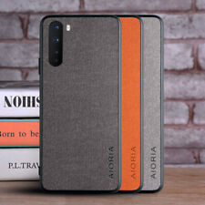 For OnePlus Nord 8 Pro 7T Pro Luxury Fabric Hybrid TPU Leather Matte Case Cover