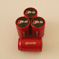 AUDI RS METAL SPORTS Valve Dust caps all Cars 7 COLORS UK DISPATCH SLINE TT S5