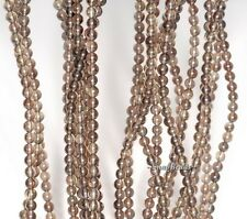 3MM CHAMPAGNE SMOKY QUARTZ GEMSTONE ROUND 3MM LOOSE BEADS 16""