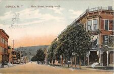 1908 Stores Main St. looking North Sidney NY post card Delaware County