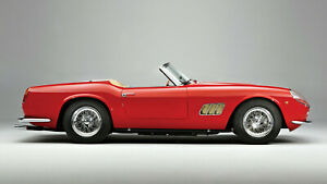 1963 Ferrari 250 GT California Spyder Red Auto Car Art Silk Wall Poster 24x36""