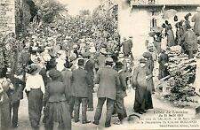 CP /  AVEYRON / FETES DE LACALM  1913 LES RUES DE LACALM / DECORATION DU CLAIRON