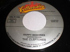 The Cleftones: Happy Memories / String Around My Heart 45