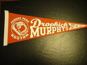 Dropkick Murphys Fenway Park Sept 8/9, 2011 Pennant Boston Red Sox  RARE