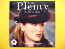 MERYL STREEP IN PLENTY ,  A THE DAILY TELEGRAPH NEWSPAPER PROMOTION  (1 DVD)