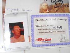Haywood  Sullivan 1/1 1961 KC Royals BOSOX owner $$ TOPPS Vault Factory Negative