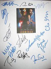 Iron Man Signed Script X13 Robert Downey Jr Stan Lee Jackson Paltrow Bibb reprnt