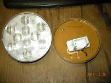 """2 ~ OTL ~ LED Backup Light - 10 Diode - Sealed - 4"""" Round - White w/ Clear Lens"""