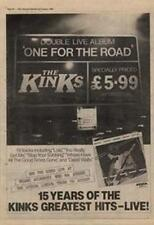Kinks The One For The Road Tour Advert NME Cutting 1980